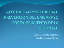 afectividad y sexualidad prevención del embarazo fortalecimiento