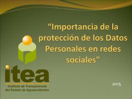 Conferencia Datos Personales en redes sociales