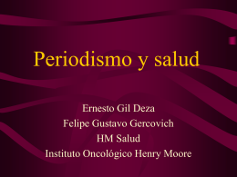 Periodismo y salud - Instituto Oncológico Henry Moore