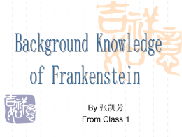 Background Knowledge of Frankenstein