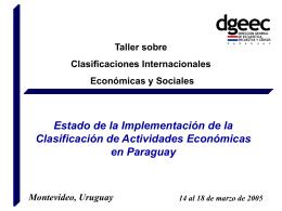 Clasificador de Actividades Económicas del Paraguay (CAEP)