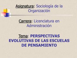 Unidad II Soc.de la Org.Perspectivas Evolutivas