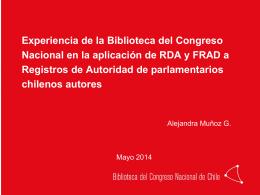 RDA y Parlamentarios Autores
