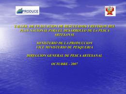 Exposición Resultados DGPA - Ministerio de la Producción