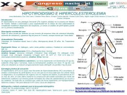 HIPOTIROIDISMO E HIPERCOLESTEROLEMIA Anna Medvedeva
