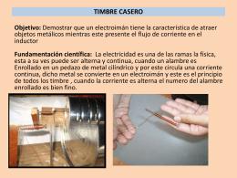 TIMBRE CASERO.