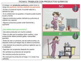 Ficha 6 - Trabajos con productos químicos
