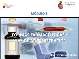 formas farmacéuticas y vías de administración módulo 3