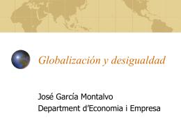 Globalización y desigualdad