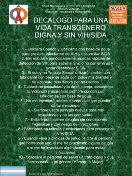 Decalogo para una vida transgenero digna y sin VIH/SIDA.