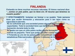 Finlandia como ejemplo