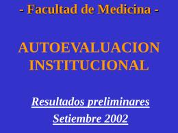 Autoevaluación - Asamblea del Claustro de la Facultad