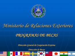 programas de becas - Universidad de El Salvador
