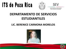 becas - Instituto Tecnológico Superior de Poza Rica