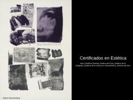 Certificados en Estética