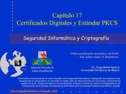 Capítulo 17: Certificados Digitales y Estándar PKCS