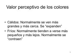 Valor perceptivo de los colores - Bienvenidos al IES Julio Verne