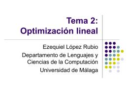 Tema 2 - Departamento de Lenguajes y Ciencias de la Computación