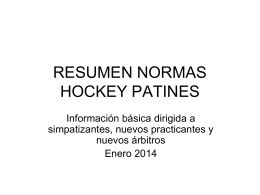 Resumen Normas Hockey Patines