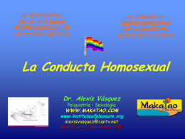 La Conducta Homosexual - Institute of pleasure