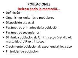 POBLACIONES: Estructura