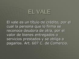 LEGISLACION 1er PARCIAL –EL VALE