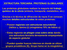 DESNATURALIZACIÓN DE LAS PROTEÍNAS GLOBULARES