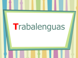 Trabalenguas - Colegio Hispano Americano