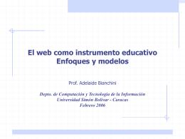 El web como instrumento educativo - LDC