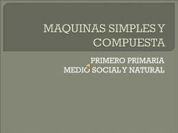 MAQUINAS SIMPLES Y COMPUESTA