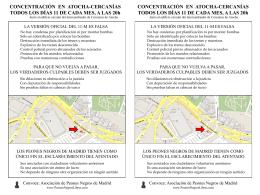 CONCENTRACIÓN EN ATOCHA-CERCANÍAS