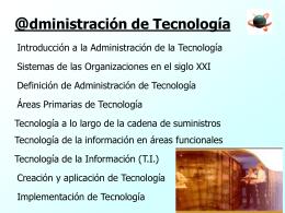 Tecnología de Proceso