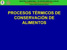 procesos térmicos de conservación de alimentos