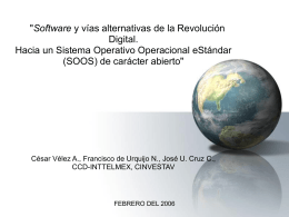 FEBRERO DEL 2006 - Programa Globalización, Conocimiento y