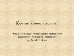 Romanticismo español [part1] (PowerPoint Presentation)