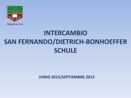 IDIOMAS. Información sobre el intercambio con Weinheim (Alemania)