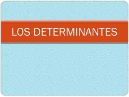 3-ADJETIVO DETERMINATIVO - Cancion