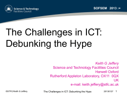 The Challenges in ICT