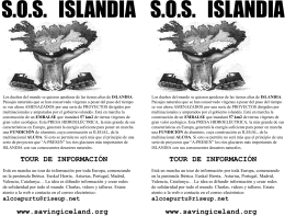 Saving Iceland tour poster – Castellano A5