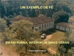 UM EXEMPLO DE FÉ