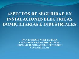 Aspectos de Seguridad en Instalaciones Electricas Domiciliarias e