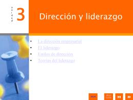 3. Dirección y liderazgo