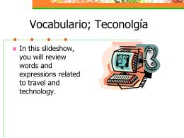 Vocabulario, Lección 11