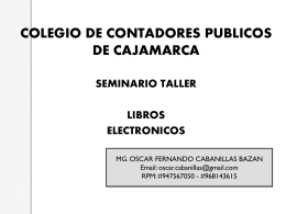 LIBROS ELECTRONICOS -1 - Colegio de Contadores Publicos