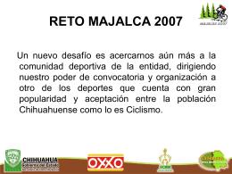 """""""EL RETO A MAJALCA 2007"""" - Gobierno del Estado de Chihuahua"""