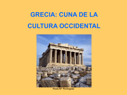 Grecia cuna de la cultura occidental