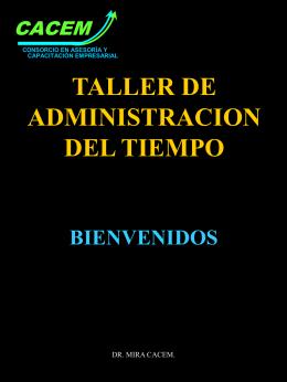 Taller de Administración del Tiempo - FMVZ-UNAM