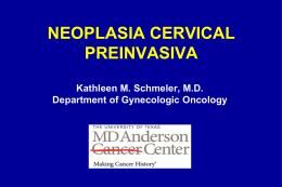 Neoplasia Cervical Preinvasiva