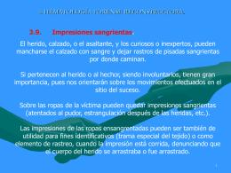 3. HEMATOLOGÍA FORENSE RECONSTRUCTORA.