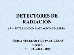 Detección de Radiaciones Ionizantes